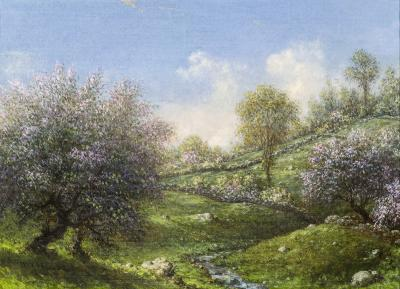Martin Johnson Heade Pink Apple Trees