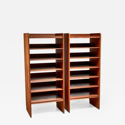 Martin Nyrop Martin Nyrop pair of pine bookcases Denmark ca 1900