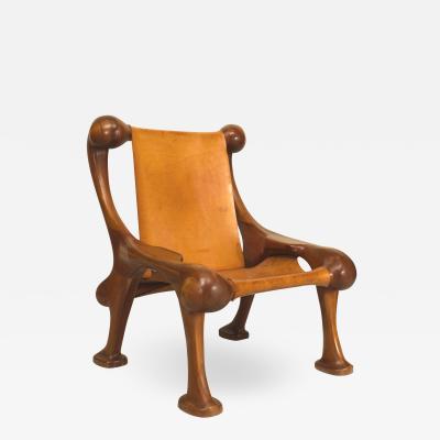 Martin Stan Buchner Post War Cherrywood Arm Chair