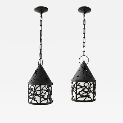 Martin Westerberg PAIR OF DIANA LANTERNS BY CARL ELMBERG MARTIN WESTERBERG