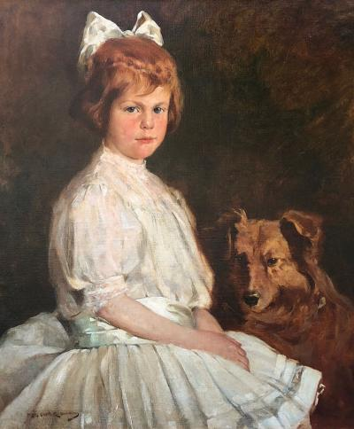 Mary Curtis Richardson Young Girl with Dog