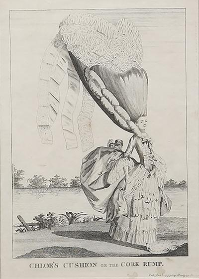 Mary Darly A group of twelve late 18th century satirical prints of women and their wigs