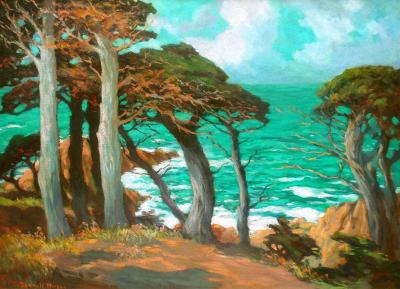 Mary DeNeale Morgan Cypress Trees Carmel