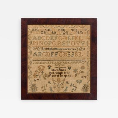 Mary Tilton Burlington County New Jersey Sampler by Mary Tilton 1814