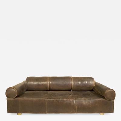 Marzio Cecchi Marzio Cecchi Leather Sofa circa 1970 Italy