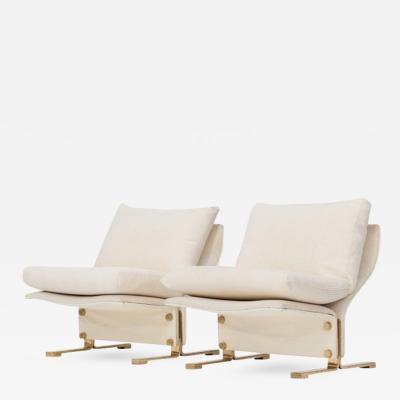 Marzio Cecchi Pair of Lounge Chairs by Marzio Cecchi Italy 1960s