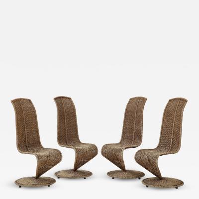 Marzio Cecchi Set of Four Marzio Cecchi Model S Chairs Italy