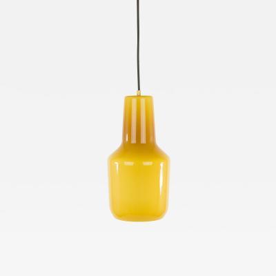 Massimo Vignelli Amber pendant by Massimo Vignelli for Venini 1950s