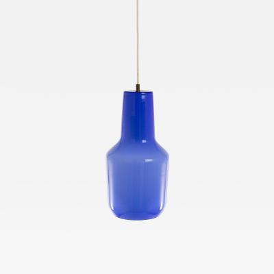 Massimo Vignelli Blue pendant by Massimo Vignelli for Murano glass specialist Venini 1950s