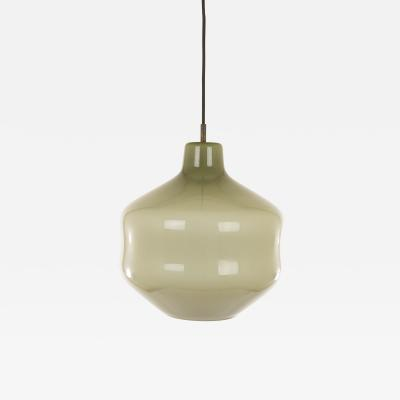 Massimo Vignelli Grey hand blown Murano glass pendant by Massimo Vignelli for Venini 1950s