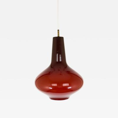 Massimo Vignelli Hand blown Murano glass pendant by Massimo Vignelli for Venini 1950s