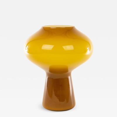 Massimo Vignelli Hand blown amber Fungo table lamp medium by Massimo Vignelli for Venini 1950s