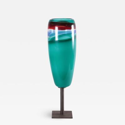 Massimo Vignelli Lamp Massimo Vignelli Metal Blown Glass Italy 1950s 1960s