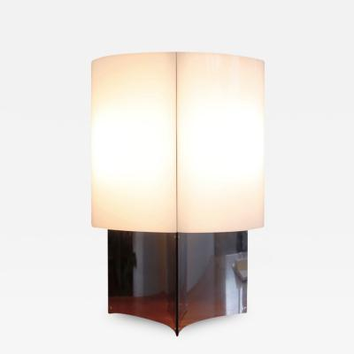Massimo Vignelli MODEL 526 ACRYLIC AND STEEL TABLE LAMP BY MASSIMO VIGNELLI