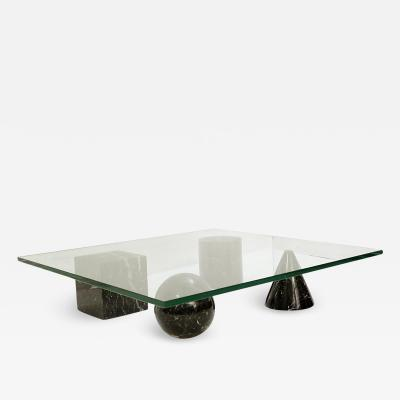 Massimo Vignelli Massimo Lella Vignelli Metaphora Coffee Table In Black Marble