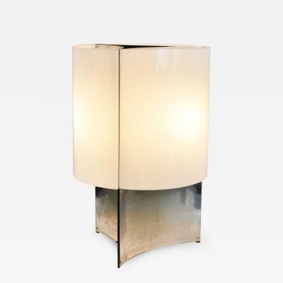 Massimo Vignelli Massimo Vignelli Table Lamp 526 G for Arteluce in Metal and Perspex