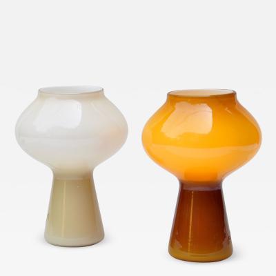 Massimo Vignelli Pair of Fungo Table Lamp by Massimo Vignelli for Venini 1950s