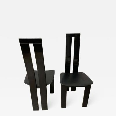 Massimo Vignelli Pair of Italian Postmodern Chairs by Massimo Vignelli