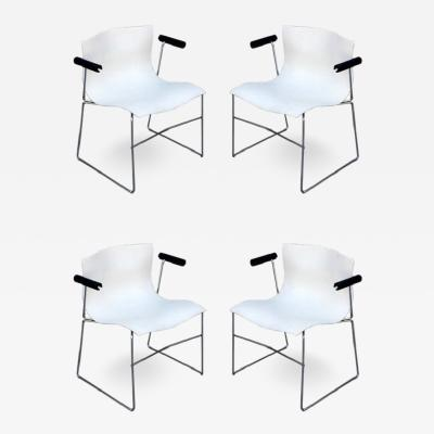 Massimo Vignelli Set of 4 Handkerchief armchairs by Massimo Vignelli for Knoll