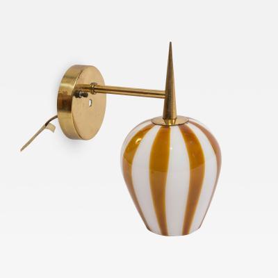 Massimo Vignelli Venini hand blown glass sconce 1950 s