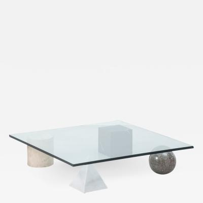 Massimo Vignelli Vignelli Metafora coffee table Casigliani Italy 1979