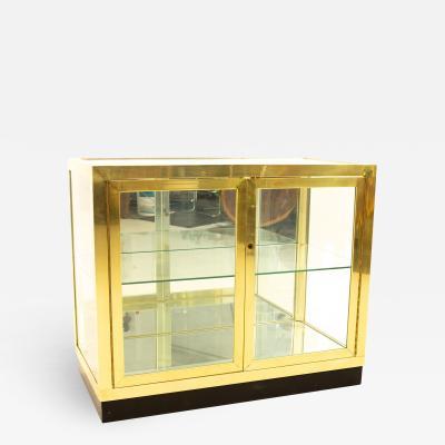 Mastercraft Mid Century Brass and Glass Display Cabinet