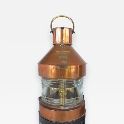 Masthead Copper Brass Ships Oil Lantern by C Murray Ltd Glasgow