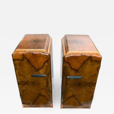 Matching Pair Of 1930s Art Deco Bedside Tables