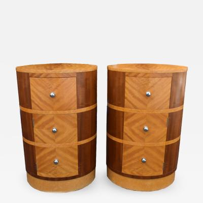 Matching Pair Of Art Deco Bedside Cabinet Night Stands Circa 1930