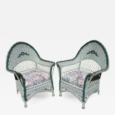 Matching Pair Wicker Armchairs