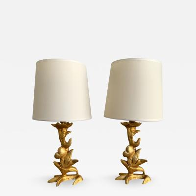Mathias Fondica Pair of Lamps by Mathias for Fondica France 1990s