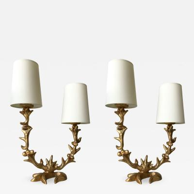 Mathias Fondica Pair of Lamps by Mathias for Fondica France 1995