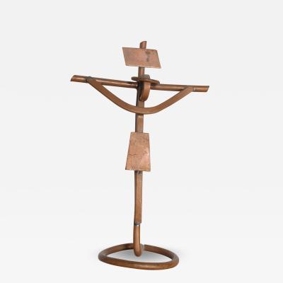 Mathias Goeritz Mid Century Mathias Goertiz Cross Sculpture Copper Silver