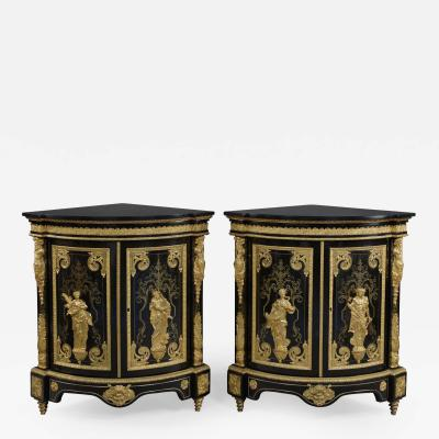 Mathieu B fort Jeune A Pair Of Louis XIV Style Boulle Cabinets