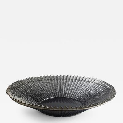 Mathieu Mat got Black Wire Metal Mesh Bowl with Pleats