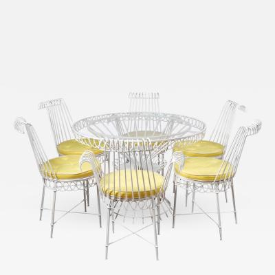 Mathieu Mat got Cap dAil Table and Set of Six Chairs