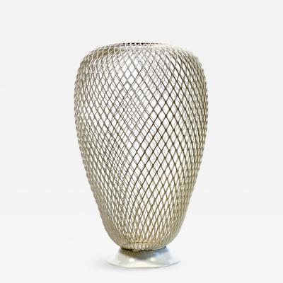 Mathieu Mat got French 1950s Metalwork Vase in the Manner of Mathieu Mat got