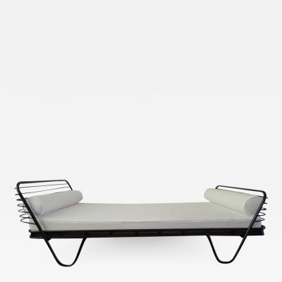 Mathieu Mat got French Mid Century Modern Kyoto Enameled Iron Daybed Bed by Mathieu Mat got