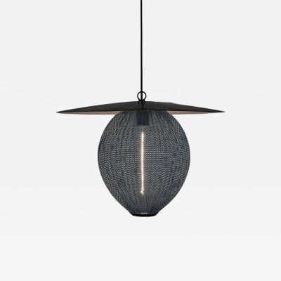 Mathieu Mat got Large Mathieu Mat got Satellite Pendant in Black and Grey Metal