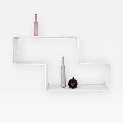 Mathieu Mat got Mathieu Mat got Dedal Vintage French Shelf Painted White France Circa 1950