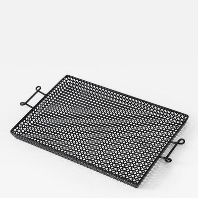 Mathieu Mat got Mathieu Mategot Black Lacquer Perforated Serving Tray France c 1950
