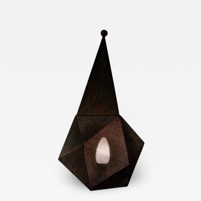 Mathieu Mat got Mathieu Mategot Table Lamp model Baghdad in perforated Steel