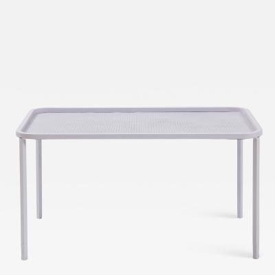 Mathieu Mat got Mathieu Mategot White Rectangular Perforated Metal Table