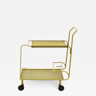 Mathieu Mat got Mustard enamel steel rolling cart by Mathieu Mat got