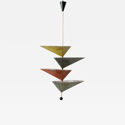 Mathieu Mat got Rare Mid Century Modern Chandelier or Pendant Lamp by Mathieu Mat got 1950s