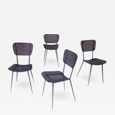 Mathieu Mat got Vintage Set of Four Mathieu Mat got Dining Chairs France 1950s