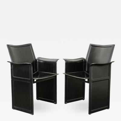 Matteo Grassi Pair of Italian 20th Century Leather Korium Armchairs