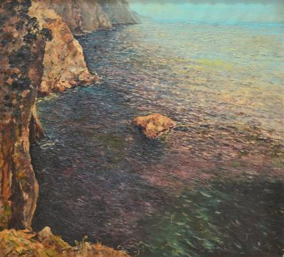 Matteo Sarno Isle of Capri Oil Painting Signed