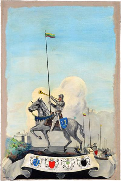 Matthew Orante Lithuania Battle of Tannenberg Oil on Canvas