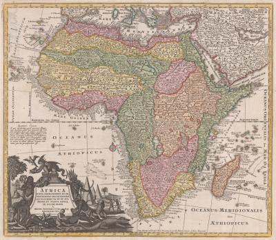 Matthew Seutter Classic 18th century map of Africa